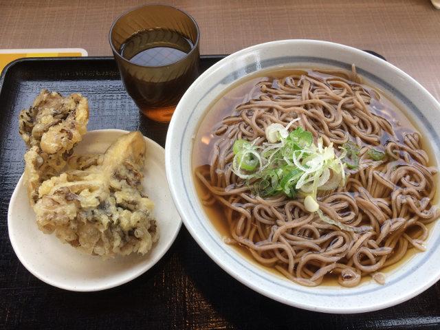 """""""舞茸天ぷら蕎麦の全体"""