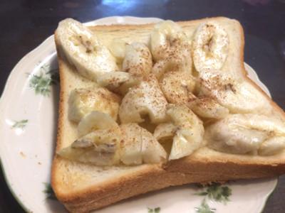 バナナトーストにしておいしくいただきました