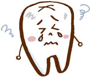 悲しんでいる歯