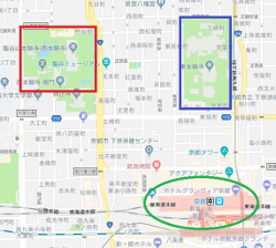京都駅前あたりの地図