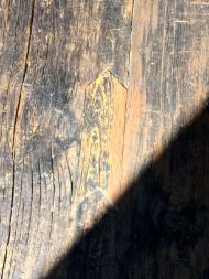 矢羽の埋め木