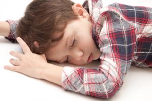 子供の寝姿