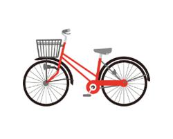 赤い自転車のイラスト