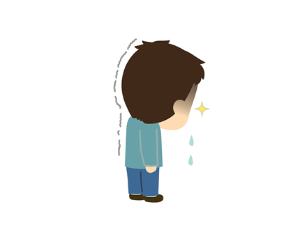 悲し泣きの男