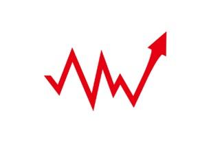 アップダウンの折れ線矢印