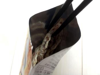 お菓子トングで袋の奥も取り出しやすい