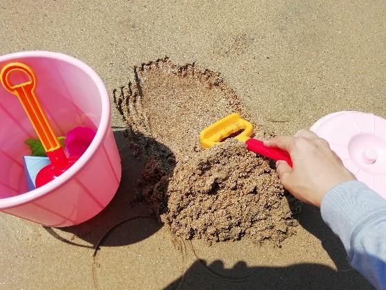 志賀島 砂遊び