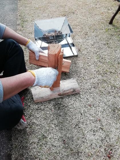 薪を割る 画像 薪割り