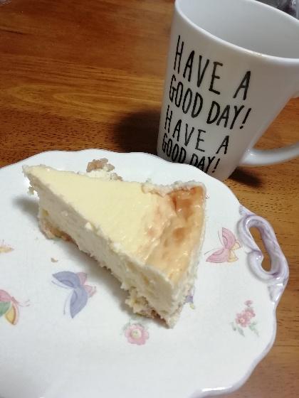 ベイクドチーズケーキ コーヒー 写真 画像 スイーツ