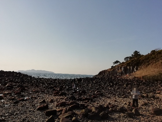 波戸岬キャンプ場 海岸 海 ヤドカリ 佐賀県 唐津市
