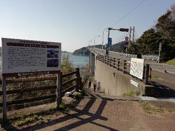 弁天遊歩道 呼子大橋 下 入口 写真 画像