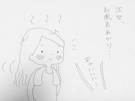 お風呂上がり 娘 イラスト 画像