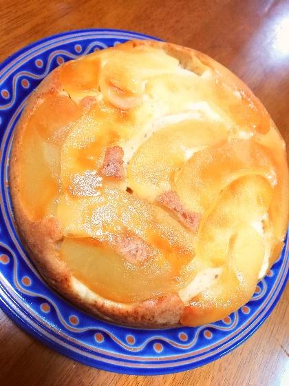 リンゴケーキ ホットケーキミックス 炊飯器 簡単 画像 リンゴ