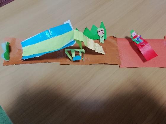 画用紙 折り紙 公園 製作 子供 上手 写真 画像