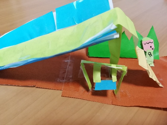滑り台 ブランコ 子供 製作 画用紙 折り紙 手作り 写真 画像