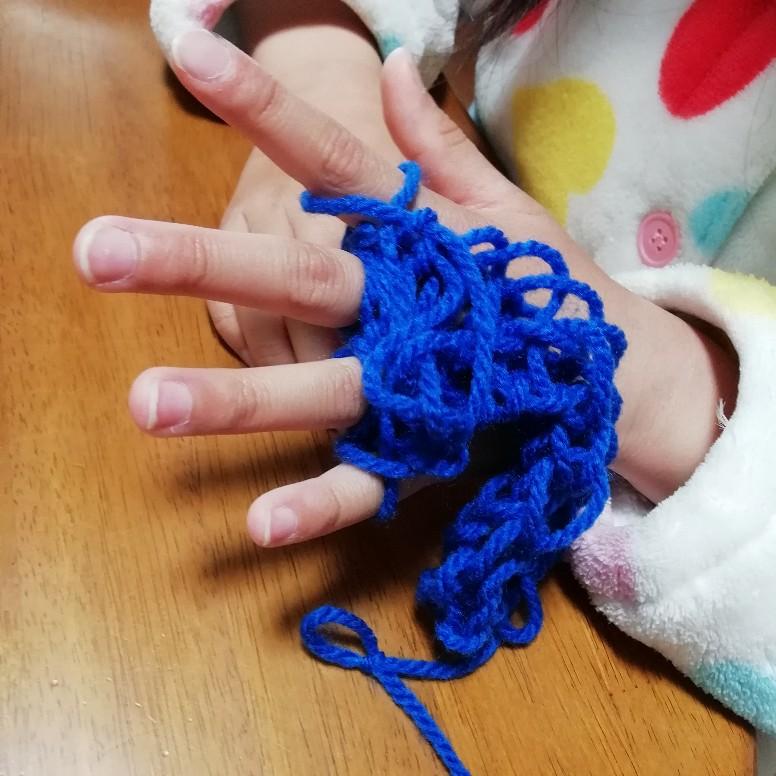 指編み リリアン編み 子供 毛糸 写真 画像 簡単