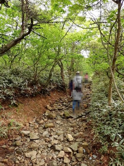佐賀県 小城市 天山 登山 険しい 岩石 写真 画像