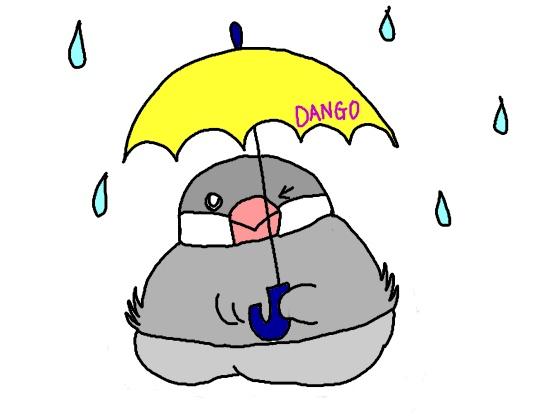 文鳥 鳥 傘 差す イラスト かわいい 雨 画像