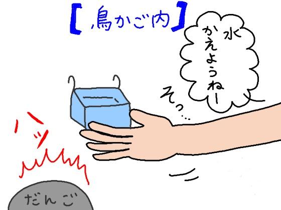 イラスト 漫画 文鳥 水換え 汚れ 水