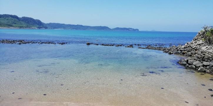 湊の立神岩 海 きれい 絶景 写真 画像