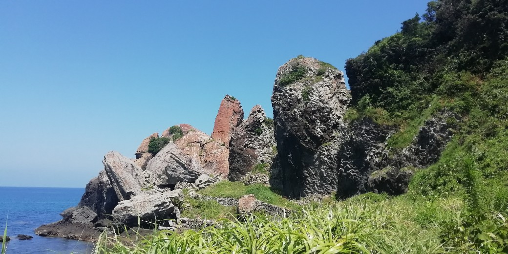 唐津市 湊の立神岩 写真 画像 海