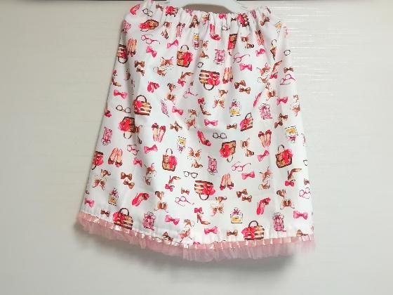 スカート 手作り 手作りスカート 子供 娘 簡単 写真 画像 裾 レース レース付き