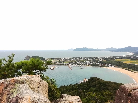立石山登山 立石山 登山 写真 画像  糸島 海 芥屋海水浴場