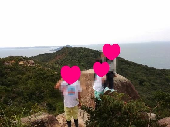 立石山登山 立石山 登山 写真 画像  糸島 山頂 海