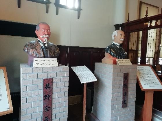 辰野金吾 銅像 旧唐津銀行本店 写真 画像 佐賀県 唐津市