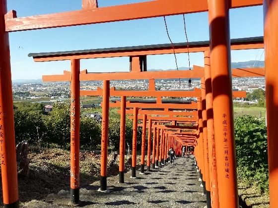 浮羽神社 浮羽稲荷神社 福岡県 鳥居 階段 写真 画像 インスタ映えスポット 頂上