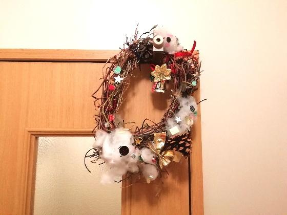 クリスマスリース クリスマス リース 手作り 子供 写真 画像 朝顔
