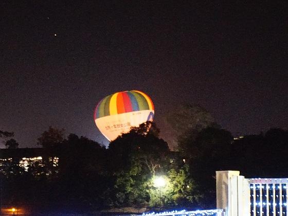 吉野ヶ里歴史公園 2020 画像 写真 光の響 イベント 光の地上絵 古代 弥生時代 熱気球 気球