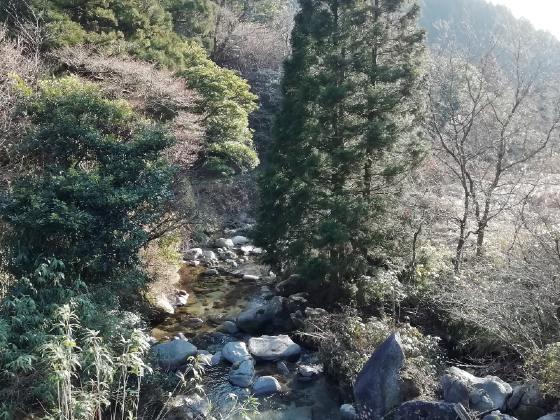 冬 山 のどが 写真 画像 川 癒やし 美しい