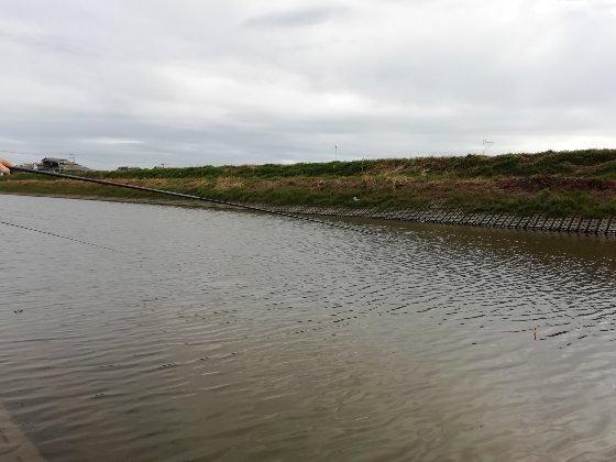 クリーク 浮き釣り 河川 写真 画像