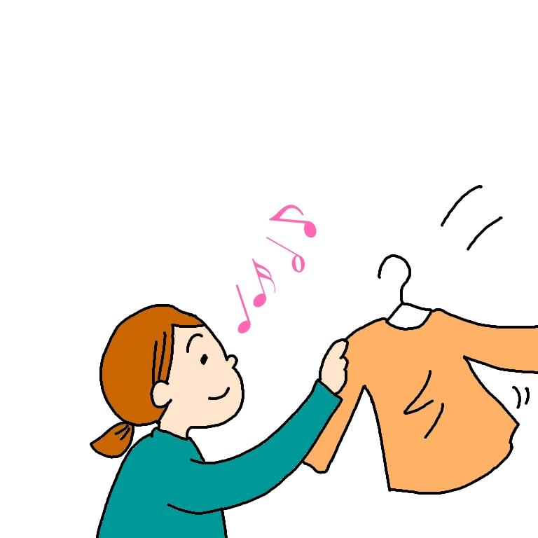 イラスト 漫画 洗濯物 女 画像