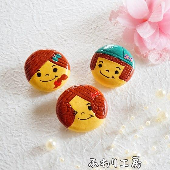 粘土アクセサリー 粘土ブローチ ブローチ バッグチャーム 女の子 かわいい 粘土 ハンドメイド