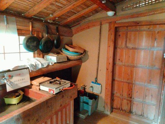 筑前町 安の里公園ふれあいファーム 写真 画像 藁ぶき屋根 台所