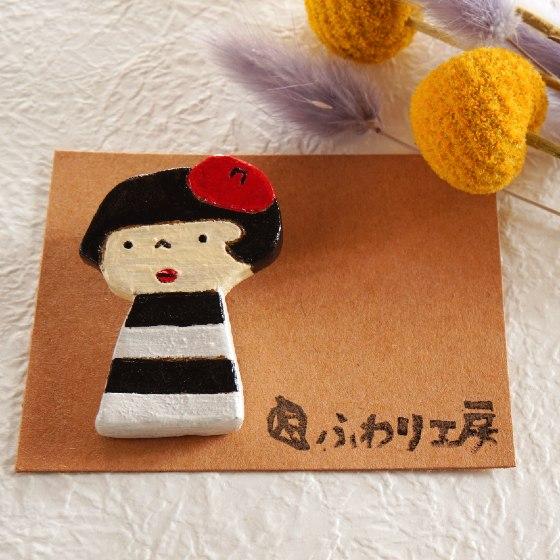 ふわり工房 ハンドメイド ふわこちゃん オリジナルキャラクター オーブン陶土 粘土アクセサリー 写真 画像 かわいい おしゃれ