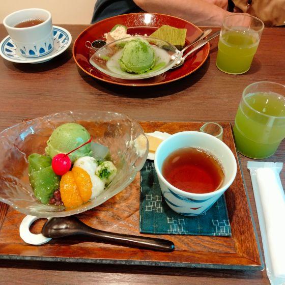 お茶屋さん 緑茶 スイーツ ほうじ茶 抹茶 写真 画像