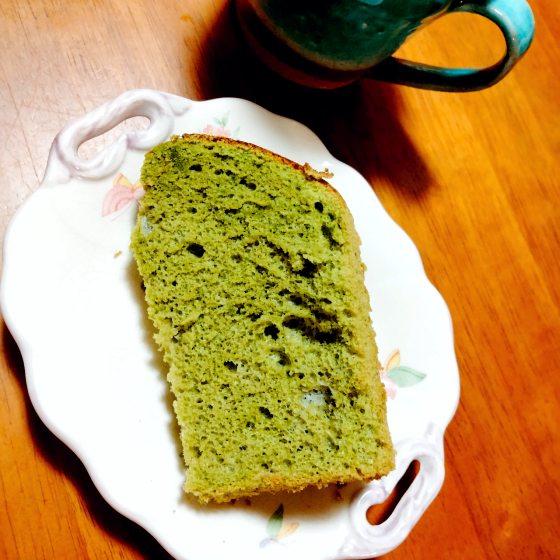 抹茶 シフォンケーキ 手作り 写真 画像