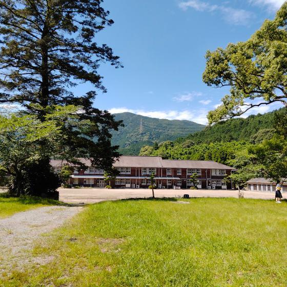 秋月 秋月城下町 中学校  写真 画像 朝倉市