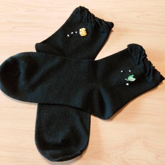 靴下 ハンドメイド 刺繍 写真 画像 かわいい