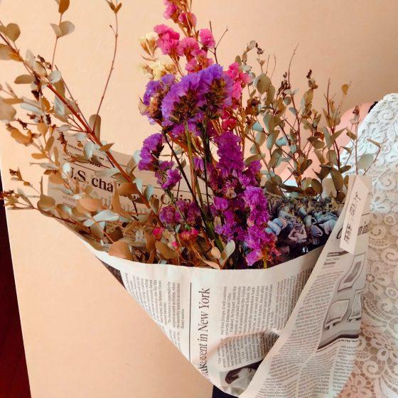 ドライフラワー スターチス 紫陽花 写真 画像