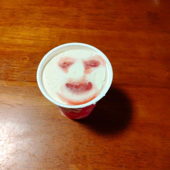 パナップ 顔 アイスクリーム 写真 画像 いちご