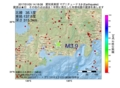 地震震源マップ:2017年01月05日 14時18分 愛知県東部 M3.9
