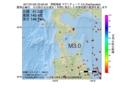 地震震源マップ:2017年01月05日 23時59分 津軽海峡 M3.0