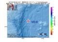 地震震源マップ:2017年01月06日 06時14分 関東東方沖 M3.8