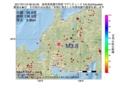 地震震源マップ:2017年01月10日 06時52分 岐阜県美濃中西部 M3.8