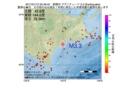 地震震源マップ:2017年01月12日 22時49分 釧路沖 M3.3
