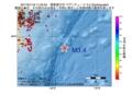 地震震源マップ:2017年01月16日 11時04分 関東東方沖 M3.4